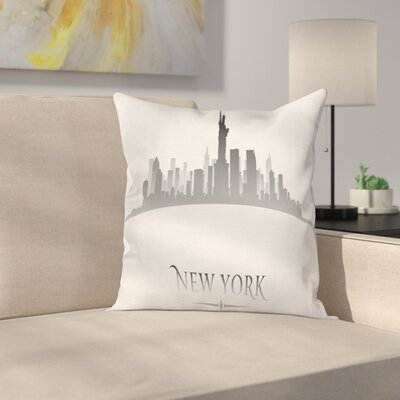 New York City Statues Cushion Pillow Cover Size: 18 x 18