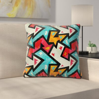 Stain Resistant Square Pillow Cover with Zipper Size: 16 x 16