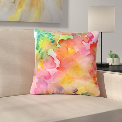 Louise Machado Spring Colours Floral Outdoor Throw Pillow Size: 16 H x 16 W x 5 D