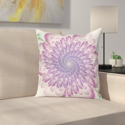 Floral Harmonic Spirals Square Pillow Cover Size: 16 x 16