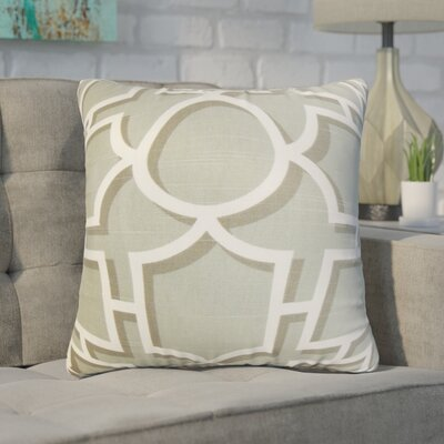 Zaira Geometric Cotton Throw Pillow Color: Gray