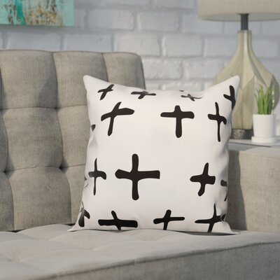 Nunley Bechard Hand-Drawn Swiss Cross Pillow Size: 18 x 18, Type: Pillow Cover