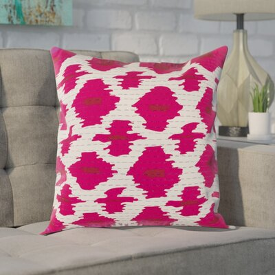 Filipina 100% Cotton Throw Pillow Cover Size: 20 H x 20 W x 1 D, Color: PinkRed