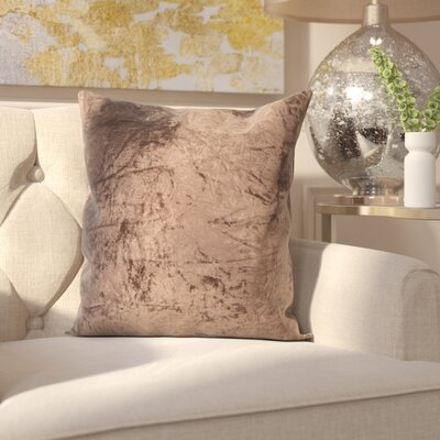 Evonne Handmade Contemporary Throw Pillow Size: 18 H x 18 W, Color: Brown