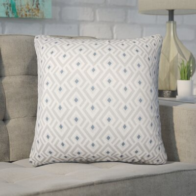 Wyncote Geometric Cotton Throw Pillow Color: Gray