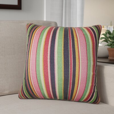 Pemberton Stripes Cotton Throw Pillow Cover Color: Pink