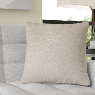 Aymond Square Throw Pillow Color: Taupe