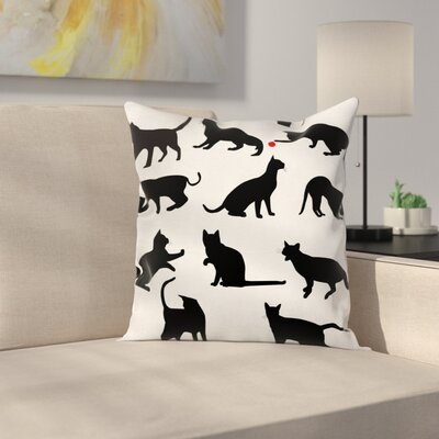 Cat Ball Animal Pet Kittens Cushion Pillow Cover Size: 20 x 20