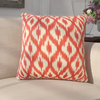 Honesti Ikat Down Filled 100% Cotton Throw Pillow Size: 24 x 24