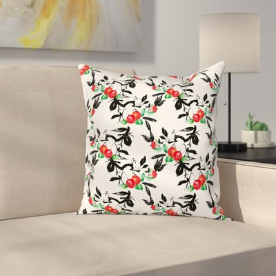 Vivid Mountain Berries Square Pillow Cover Size: 18 x 18