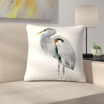 Heron Throw Pillow Size: 18 x 18