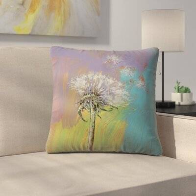 Dandelion Throw Pillow Size: 16 x 16