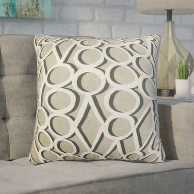 Hardaway Geometric Cotton Throw Pillow Color: Gray Stone, Size: 20 x 20