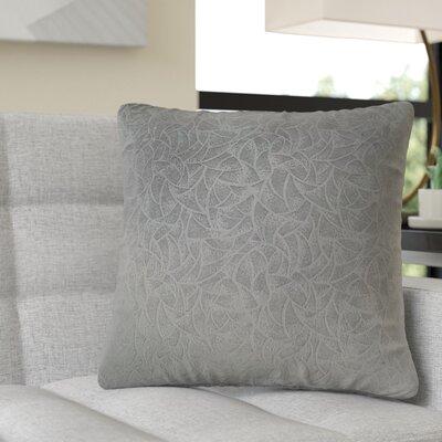 Aymond Square Throw Pillow Color: Dark Gray