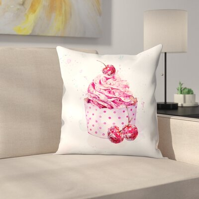 Cupcake Throw Pillow Size: 16 x 16