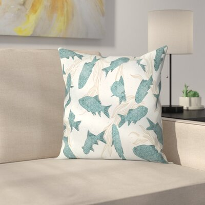 Fish Throw Pillow Size: 16 x 16