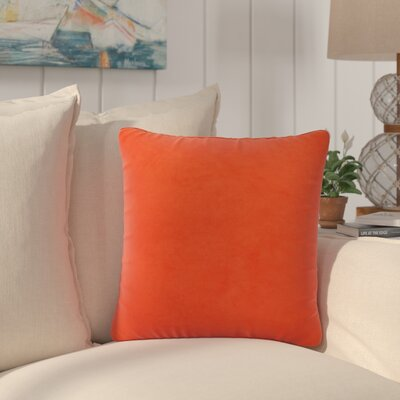 Dugan Soft Suede Throw Pillows Color: Orange