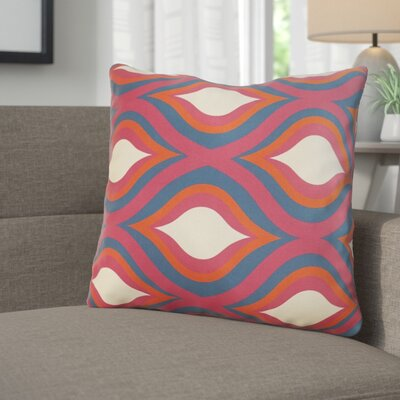 Wakefield Contemporary Throw Pillow Size: 22 H �x 22 W x 5 D, Color: Magenta