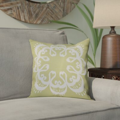 Meetinghouse Ikat Mandala Geometric Print Throw Pillow Size: 26 H x 26 W, Color: Green