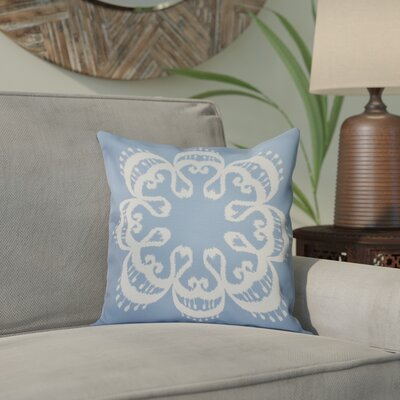 Meetinghouse Ikat Mandala Geometric Print Throw Pillow Size: 26 H x 26 W, Color: Blue