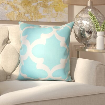 Clyburn 100% Cotton Throw Pillow Color: Sky Blue, Size: 20 x 20