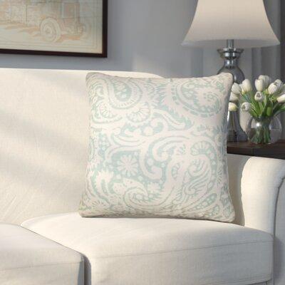 Hudepohl Paisley Throw Pillow Color: Aqua