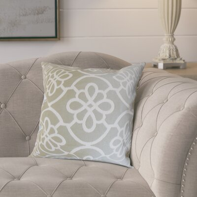 Throw Pillow Color: Grey, Size: 22 x 22