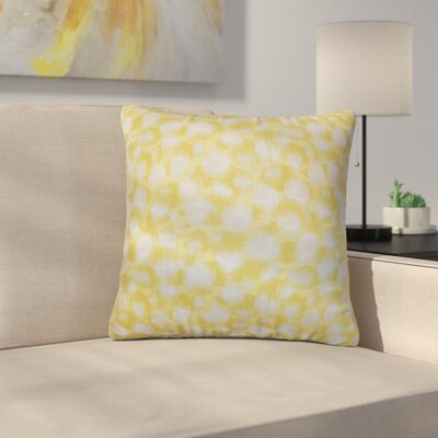 Straughter Geometric Cotton Throw Pillow Color: Banana