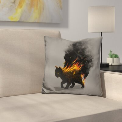 This Cat Is on Fire Throw Pillow