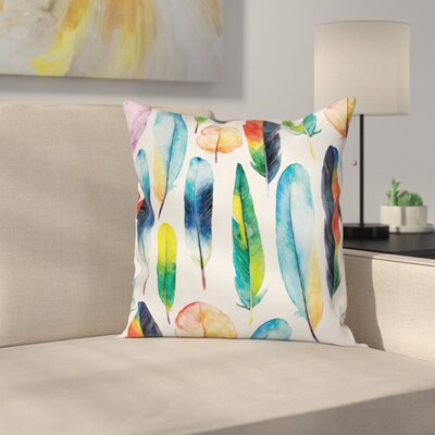 Feathers Pillow Cover Size: 18 x 18