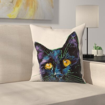 Michael Creese Killer Cat Throw Pillow Size: 16 x 16
