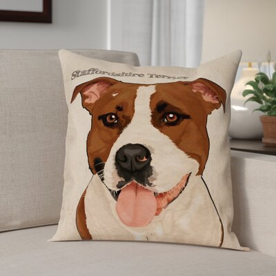 Crispin Staffordshire Terrier Throw Pillow