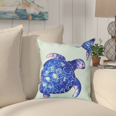 Granata Turtle Tales Animal Print Throw Pillow Size: 20 H x 20 W, Color: Aqua