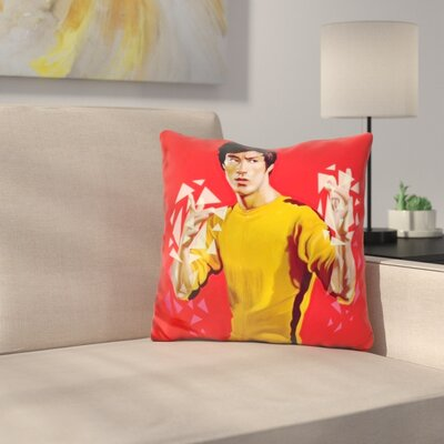 Bruce Lee Throw Pillow