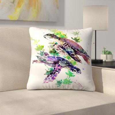 Turtle Throw Pillow Size: 18 x 18