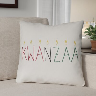 Indoor/Outdoor Throw Pillow Size: 18 H x 18 W x 4 D, Color: White/Yellow/Red/Green