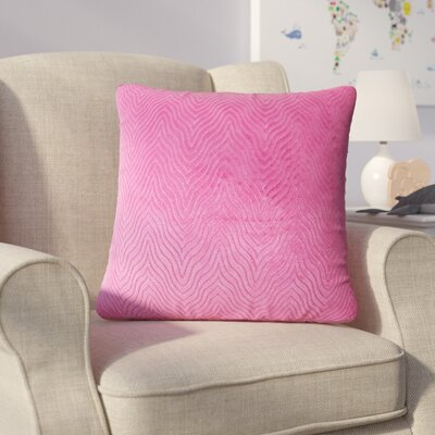 Bartle Solid Throw Pillow Color: Azalea