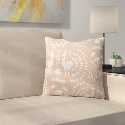 Kaivhon Outdoor Throw Pillow Size: 18 x 18, Color: Pink