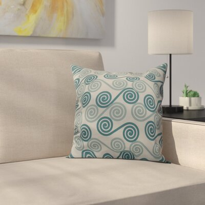 Nikkle Rip Curl Indoor/Outdoor Throw Pillow Size: 16 H x 16 W, Color: Aqua