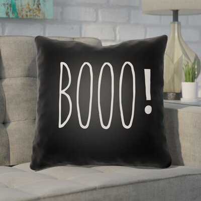 Outdoor Throw Pillow Color: Black, Size: 20 H x 20 W x 4 D