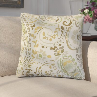 Marea Floral Linen Throw Pillow Color: Brown