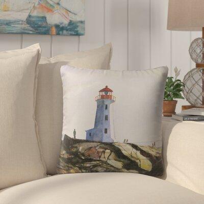 Rosette Outdoor Throw Pillow Size: 18 H x 18 W x 6 D