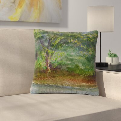 Cyndi Steen Storm on the Pond Outdoor Throw Pillow Size: 18 H x 18 W x 5 D