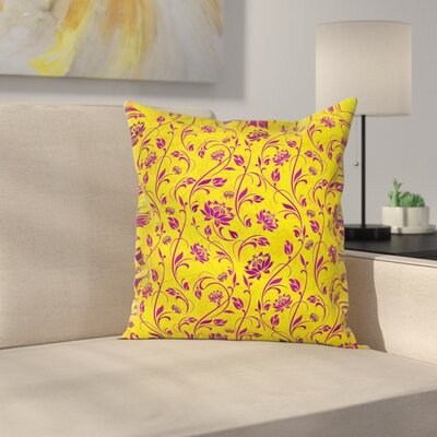 Floral 18 Square Pillow Cover Size: 16 x 16