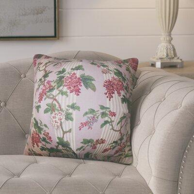 Port Pirie Floral Linen Throw Pillow