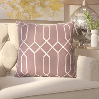 Kaivhon Linen Throw Pillow Size: 18 H x 18 W x 4 D, Color: Eggplant