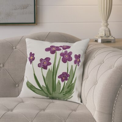 Laymon Throw Pillow Color: Purple, Size: 26 x 26