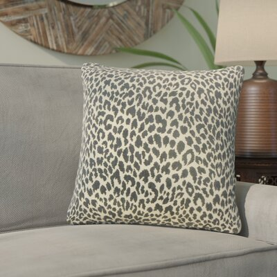 Motyka Animal Print Throw Pillow Color: Onyx
