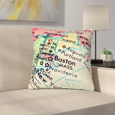 Debbra Obertanec Boston on the Time Outdoor Throw Pillow Size: 18 H x 18 W x 5 D