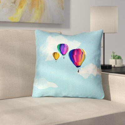 Hot Air Balloons Outdoor Throw Pillow Size: 20 x 20